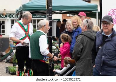 The Colchester Morris men in Framlingahm Suffolk UK  September 22 2018