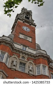 Colchester town hall clock tower. Colchester high street. Colchester Essex 15 June 2019 illustative editorial