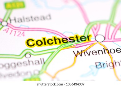Colchester. United Kingdom on a map