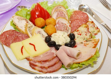 Cold appetizer wedding in romania