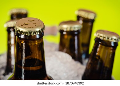 cold-beer-bottles-on-ice-260nw-187074839