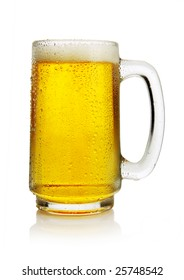 cold beer in mug