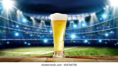 cold beer and sport time