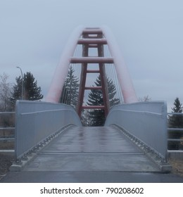 cold bridge in frozen winter