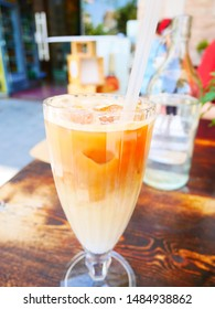 Cold coffee in a glass