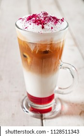cold coffee with syrup