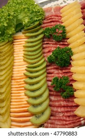 cold cuts on a cold buffet
