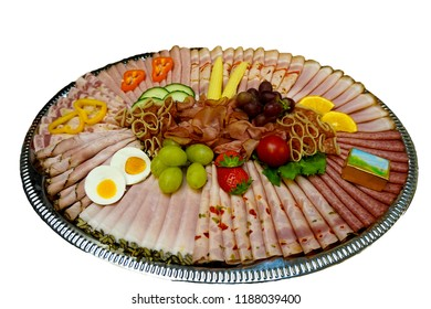 Cold cuts platter cold kitchen buffet with decoration