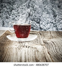 cold day and winter mulled