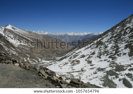 Cold Deserts Trans Himalayan Plateau Ladakh India Stock Photo Edit
