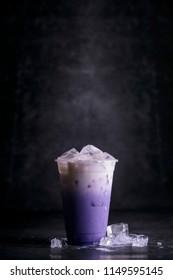 Cold drink, Iced Milk tea, Iced coffee with soft cream.