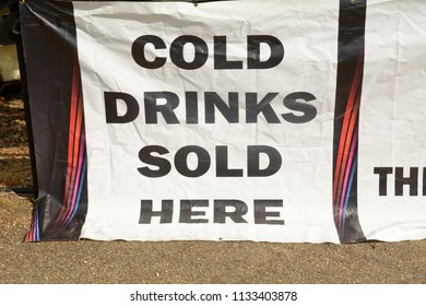 Cold Drinks Sold Here sign