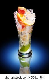 cold fresh citrus fruit drink