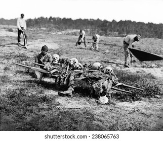 Cold Harbor Va African Americans collecting bones of soldiers killed in the battle