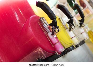 Cold ice slush fruit juice beverage equipment machine