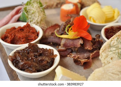 Cold meat and biltong platter
