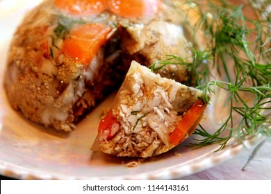 cold meats aspics  with fish