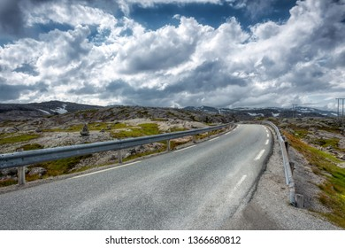 cold mountains  sirdal road in norway