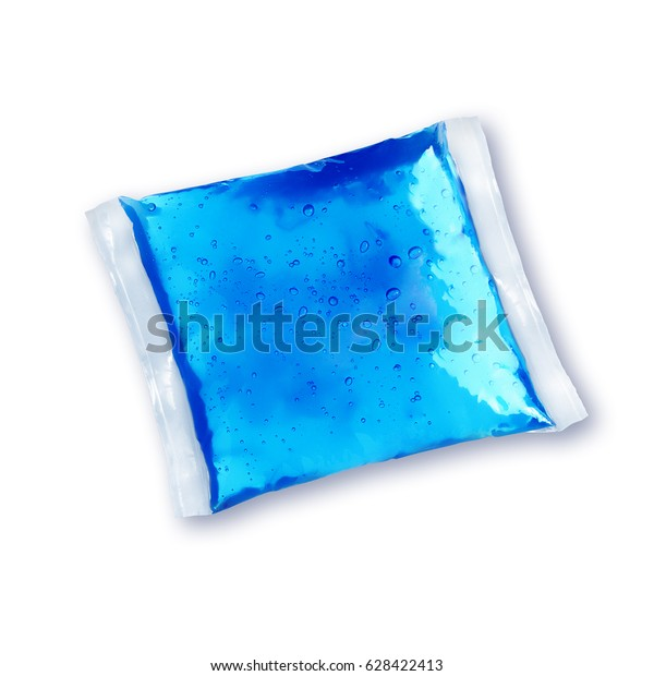 Cold pack gel isolated on white background