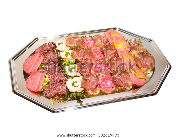 Cold plate, sandwiches with sausage