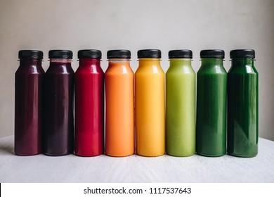 Cold press juices rainbow