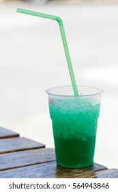cold refreshing mint granadine drink, italian tipical