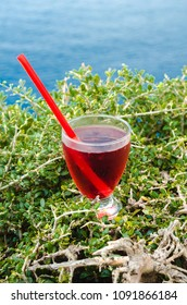 Cold Refreshing syrup Fresh Juice Drink sweet Straw Cherry Berries Fruit Summer Beach Island Sea Mood Colorful cocktai cranberry ice drink sea mountains background Diet Healthy