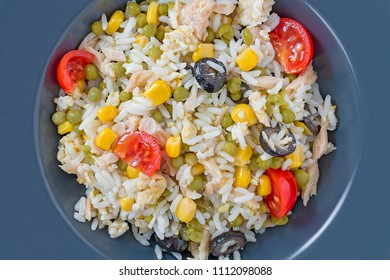 Cold rice salad from above.