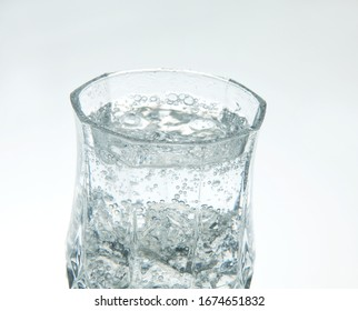 Cold soda water on a white background