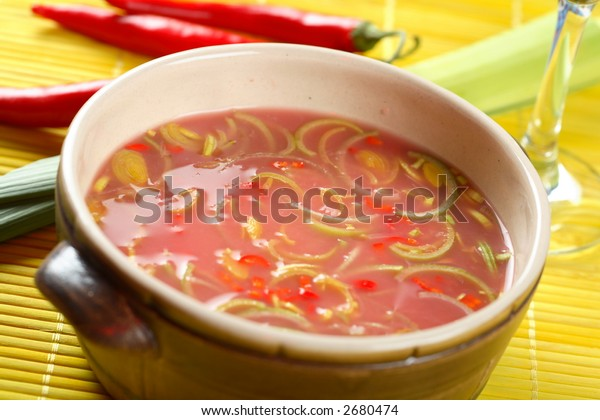 Cold soup made from pickled cabbage