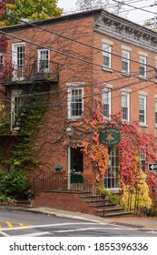 Cold Spring, NY, October 25, 2020: The Pig Hill Inn Bed and Breakfast built in 1825.