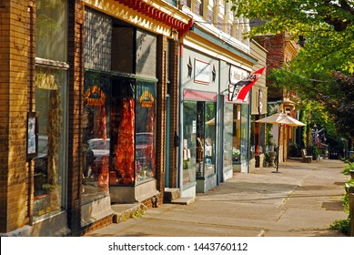 Cold Spring, NY, USA August 23,  Boutiques and independent stores populate the charming historic downtown Cold Spring, New York.