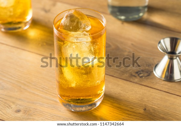 Cold Vodka and Energy Drink Cocktail with Ice
