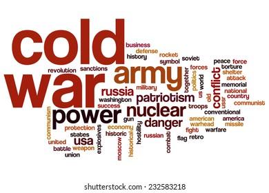 Cold war word cloud concept