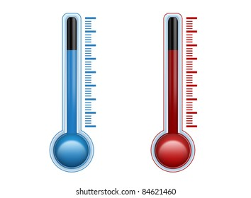 cold and warm thermometer