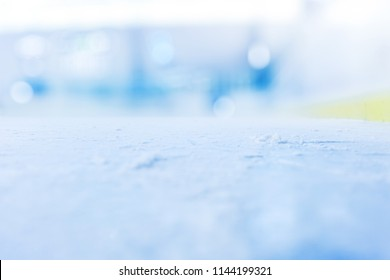 COLD WINTER BACKGROUND, BLUR OF ICE HOCKEY STADIUM, ICY SURFACE, FROZEN SURFACE