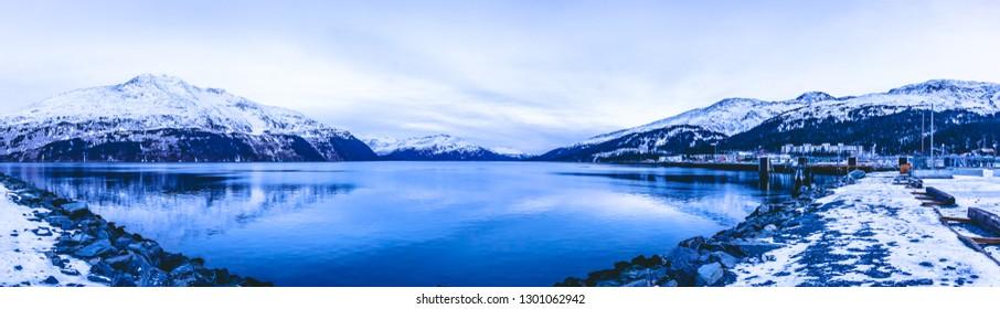 Cold Winter Day in Alaska