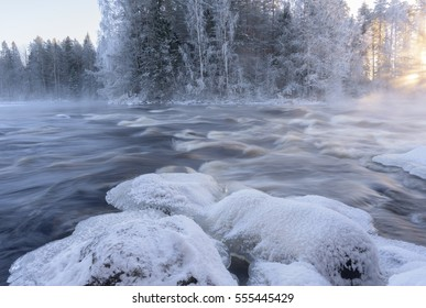 Cold winter day on the river