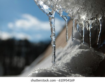 Cold Winter and Ice on the Roof