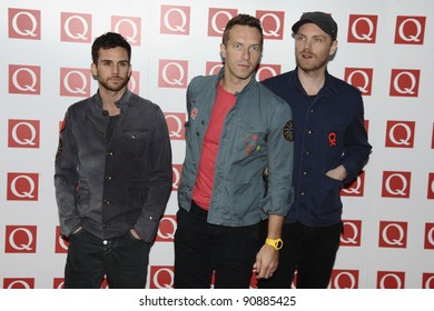 Coldplay arriving for the Q magazine Awards 2001 at the Grosvenor House Hotel, London. 24/10/2011 Picture by: Steve Vas / Featureflash