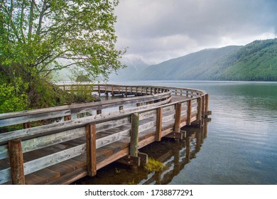 Coldwater Lake dock in Washington State