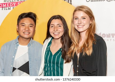 Cole Bacani , Alyssa Callahan, Nicole McCullough attend 2019 Hollywood Comedy Shorts Film Festival at TCL Chinese Theatres 6, Hollywood, CA on April 20, 2019