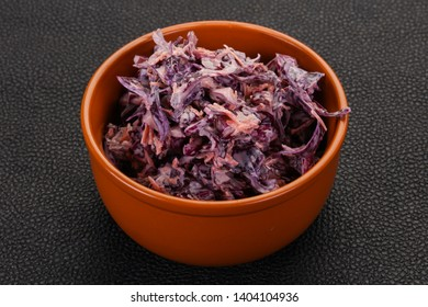 Cole slaw salad with cabbage, carrot and sauce