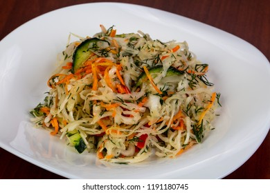 Cole Slaw salad with cucumbers