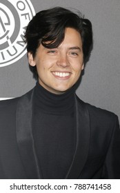 Cole Sprouse at the Art Of Elysium's 11th Annual Heaven Celebration held at the Barker Hangar in Santa Monica, USA on January 6, 2018.