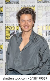 "Cole Sprouse attends 2019 Comic-Con International CW's ""Riverdale"" at Hilton Bayfront, San Diego, California on July 21 2019"