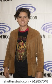 Cole Sprouse attends Riverdale press room at Wondercon in Anaheim Convention Center on March 31 2017.