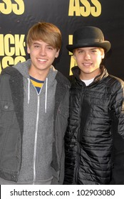 "Cole Sprouse and Dylan Sprouse at the ""Kick-Ass"" Los Angeles Premiere, Arclight Theater, Hollywood, CA. 04-13-10"