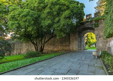 Colegiais' Garden in Evora. Popular tourist destination in central Portugal.