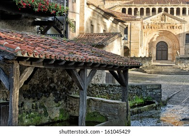The Colegiata is a church in Santillana del Mar - Cantabria - Spain